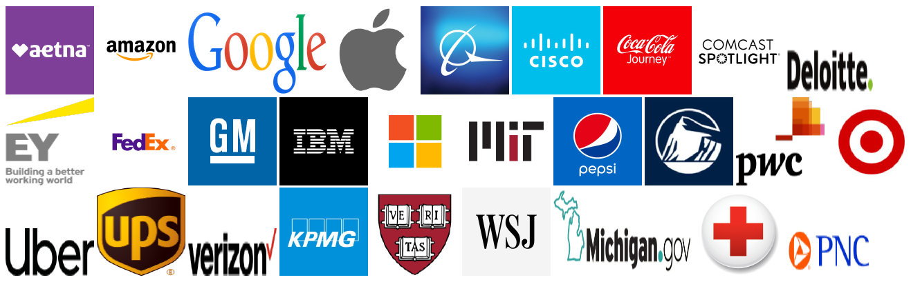 clients who use csv2geo.com like amazon,apple, google, cisco, etc...